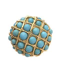 Max Chloe Pade Vavra Turquoise Cuchion Ring