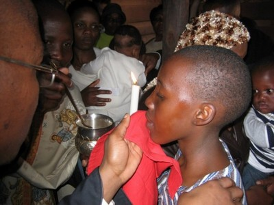 Receiving Holy Communion for the first time